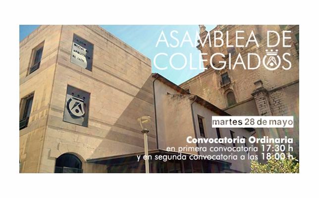 Asamblea General de Colegiados, convocatoria ordinaria (mayo/2019).