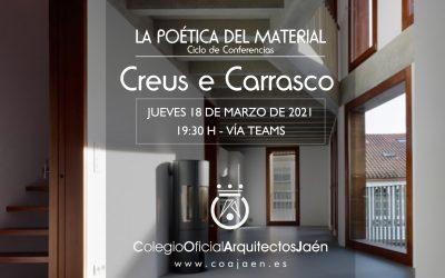 CICLO DE CONFERENCIAS 'LA POÉTICA DEL MATERIAL'