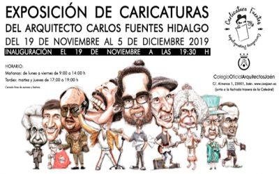 Exposición de caricaturas del arquitecto Carlos Fuentes Hidalgo