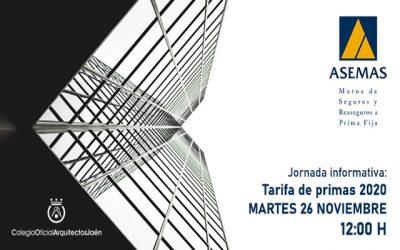 Jornada Informativa 'Asemas, Tarifa de Primas 2020'.