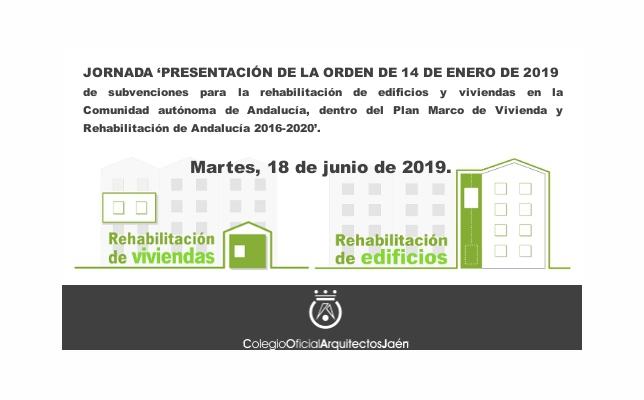 Jornada 'Presentación de la Orden de 14 de enero de 2019'.