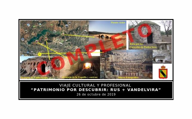 Viaje cultural y profesional 'Patrimonio por descubrir: Rus + Vandelvira'.